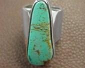Vintage Navajo Mens    Kingman Turquoise  Ring
