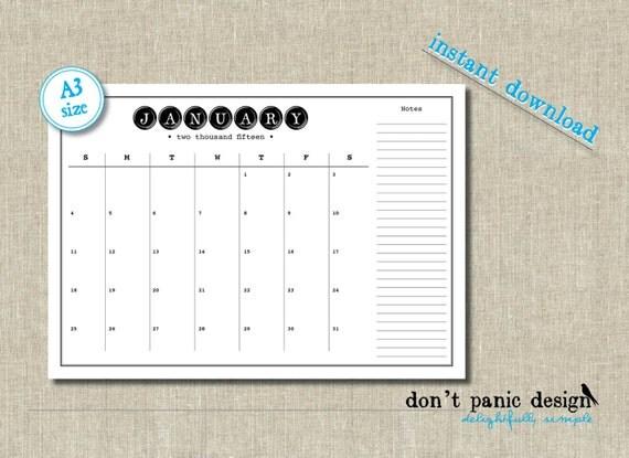 outlook calendar template 2015