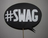 Thought bubble on a stick, Wedding photo prop, photo booth prop #SWAG