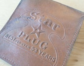 Tobacco Pouch, Plug Tobacco Pouch, Star Tobacco Carrier, Leather Pouch, Cigar, Cigarette, Pipe, 1920s, All Vintage Man