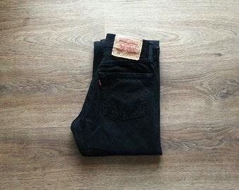 Levi's 501 Black High Waist Jeans Denim Men Women Levis size W29 L30