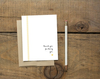 Thank you for being You - Notecard