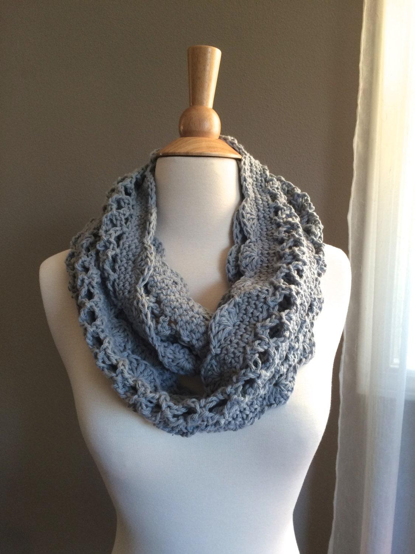 Free Crochet Pattern Lightweight Scarf : DIY Crochet Pattern: Spring Cowl scarf light weight