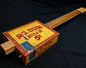 Cigar Box Ukulele - Acoustic / Electric 4-String - CBG - Slide Guitar