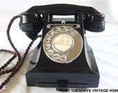Vintage GPO Black Bakelite Telephone Call Exchange retro antique dial phone