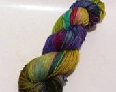 Yellow Egg 4 on Max 80/20 SW Merino Nylon Hand dyed fingering weight sock yarn