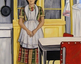 The Hoosier Cabinet, 1933   Print From Original Acrylic Painting