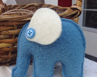 Recycled wool baby elephant