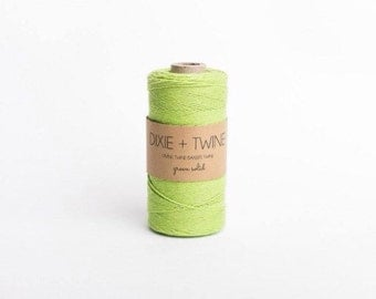25 Yards Solid Apple Green Divine Twine Baker's Twine/ Green Twine/ Bakers Twine/ Bakery Twine/ Gift Wrap Twine/ Divine Twine
