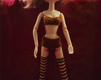 Bra and briefs for Tangkou, Blythe, Pullip dolls