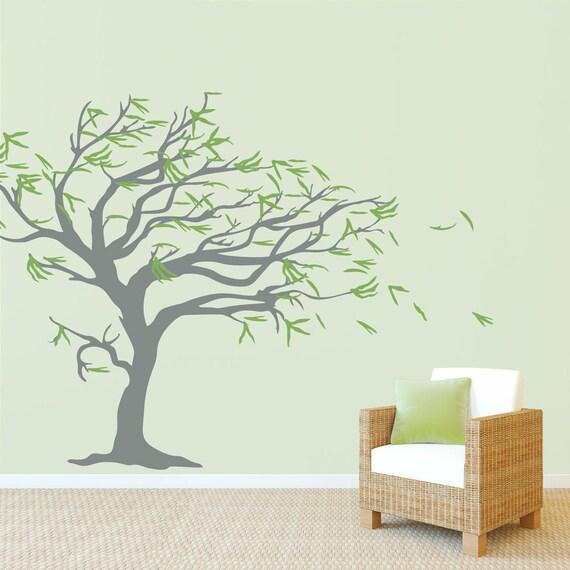 Baum im wind wandtattoo wandtattoo baum wandtattoo natur - Wandtattoo natur ...