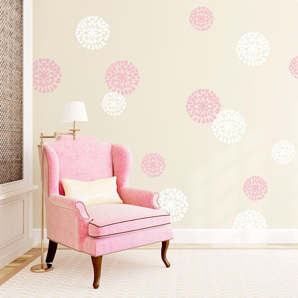 Mum Flowers Vinyl Wall Decal Flower Wall Sticker Nature