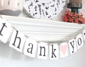 Thank you Sign – Thank you Banner – Wedding Thank you – Wedding banner – garland – Wedding Banner Photo Prop – Wedding Bunting