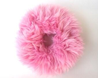 Hair Scrunchies, Clueless, Pink Fuzzy Scrunchie, Fur Scrunchies, Fluffy Scrunchie, Furry Hair Tie, Fur Ponytail Holder, 90s Kawaii