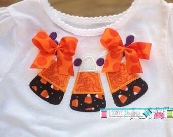 Candy Corn Necklace Halloween Shirt