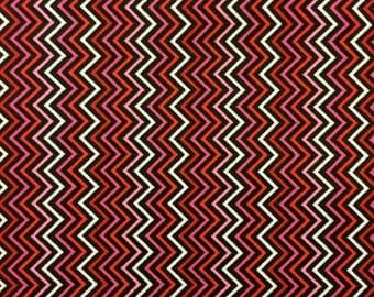 Mini Chevron Stripe Berry -  1 Yard Cut, Timeless Treasures - Chevron Fabric - Cotton Fabric