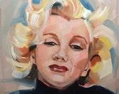 Marilyn Monroe, Oil Painting,