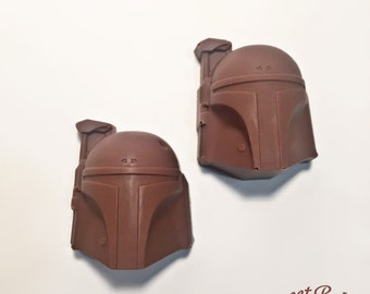 Boba Fett and Mandalorian Symbol Solid Chocolates. 1 dozen.
