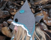 SALE PRICED!! Crocheted Shark Hat/Ready to ship