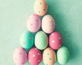 Spring decor mint easter eggs photography coral kitchen decor pink kitchen print large print pastel easter decor pink nursery decor