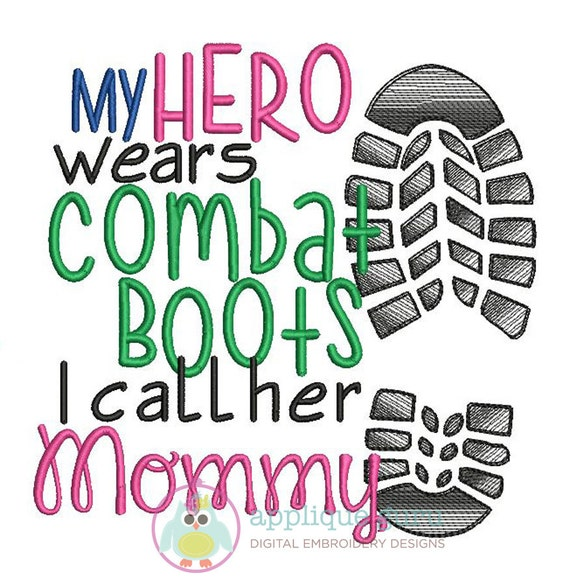 my hero wears combat boots mommy machine embroidery design