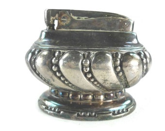 Ronson Crown Table Lighter Silverplate