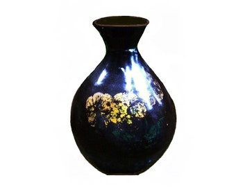 French Country Kitchen Antique 1800s Slip Glaze Chocolate Brown Vintage Folk Art Studio Pottery Asian Ginger Jar Hand Thrown Primitive