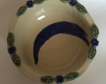 Ceramic Flowered Small Bowl for Gravy, Condiments, Dips