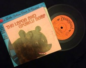 vintage Tunes ... Little Golden a Book The LARGE and GROWLY BEAR book and 45 Record  ...