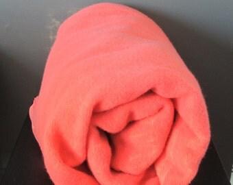 Vintage Coral Wool Blanket