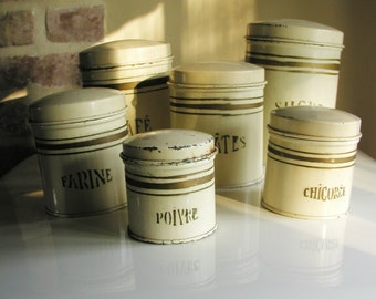 6 french metal pots