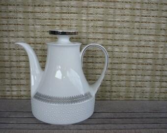Vintage Porcelain Teapot, Scherzer, Bavaria, Germany