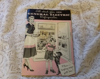 Vintage All About Your New General Electric Refrigerator Instructional Booklet - Pink!