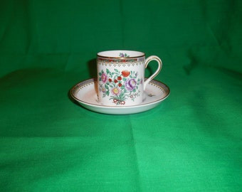 One (1), Bone China, Breakfast Cup & Saucer, from Spode Copeland China, in the Lowestoft Flowers C 1703 Pattern.