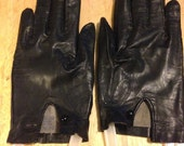 Black Kid Gloves with Buttons reserved for vogue 82