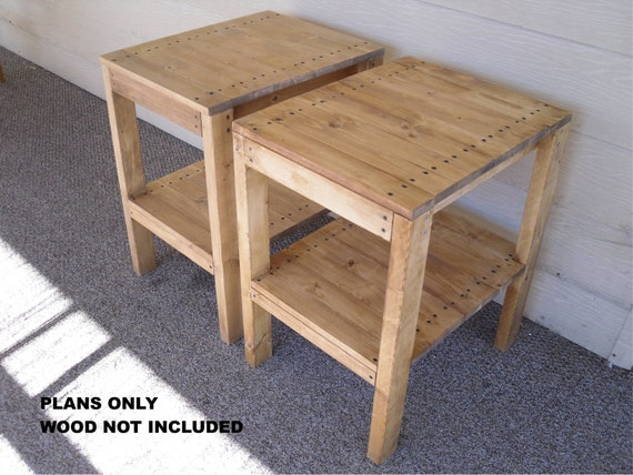 Diy plans to make br end table set indoor outdoor for Side table plans