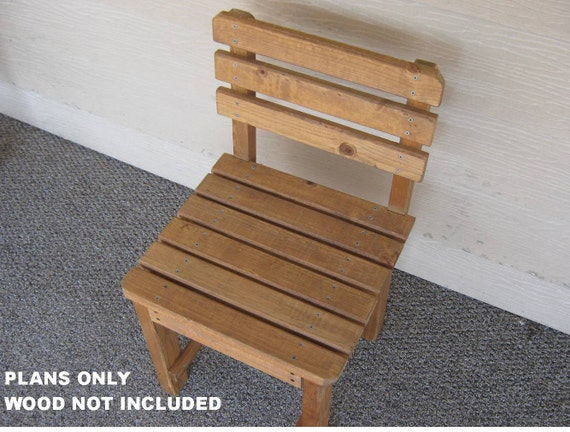 DIY PLANS To Make Patio Chair Outdoor Furniture For