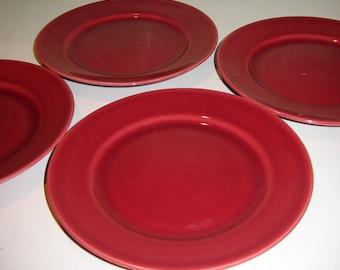 Vintage Franciscan Ware Redwood El Patio Bread Plates, Set of 4