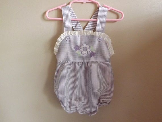 reserve baby romper 1970s baby clothes vintage jumper baby