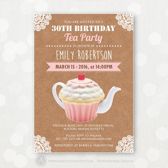 adult Birthday Flyer