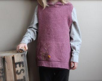 Child's Felted Wool Sweater Vest, wool vest, child's wool vest, Felted Wool Vest