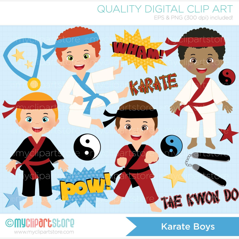 Karate boy clipart
