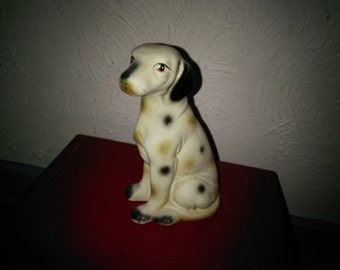 Cute Vintage Spotted Dog Figurine or Statue