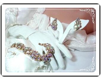 Juliana Bracelet Set - Decadent Aurora Borealis Bracelet and Earring  D&E  Demi-917a-052810083