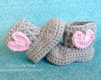 Baby Girl Booties, Crochet Booties, Baby Boots, Girl Crochet Shoes, Baby Shower Gift