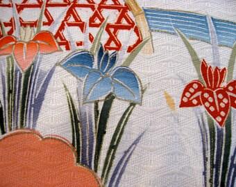 Mug Mat or Vase Mat,Silk kimono fabric #5