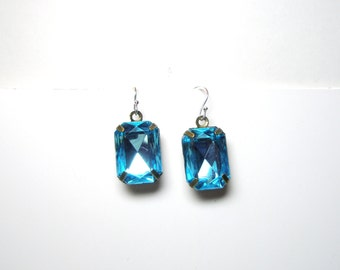 Blue  Earrings - Gift for her under 20  Free Shipping  Worldwide