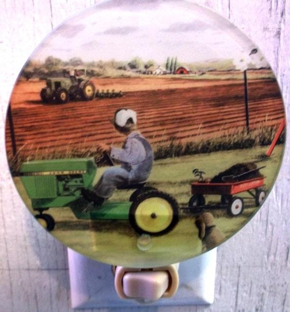 tractor night light, child night light, farm night light, decorative night light, pretty night light, bathroom night light, kitchen light
