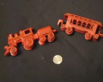 SALE!!  Cast Iron Red Train, Cast Iron Train, Nursery , Children's Room Decor