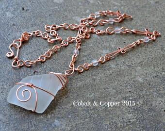 White Sea Glass Necklace